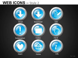 Web Icons Style 2 Powerpoint Presentation Slides DB