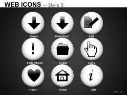 Web Icons Style 3 Powerpoint Presentation Slides DB