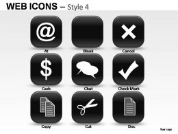 Web Icons Style 4 Powerpoint Presentation Slides