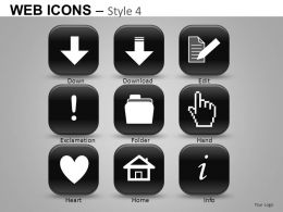 Web Icons Style 4 Powerpoint Presentation Slides DB
