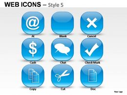 Web Icons Style 5 Powerpoint Presentation Slides