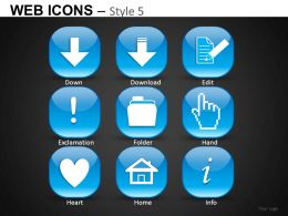 Web Icons Style 5 Powerpoint Presentation Slides DB