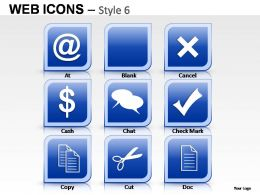 Web Icons Style 6 Powerpoint Presentation Slides