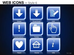 Web Icons Style 6 Powerpoint Presentation Slides DB