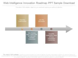 Web Intelligence Innovation Roadmap Ppt Sample Download