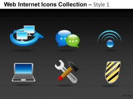 Web Internet Icons Collection Style 1 Powerpoint Presentation Slides DB