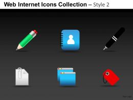 Web Internet Icons Collection Style 2 Powerpoint Presentation Slides DB