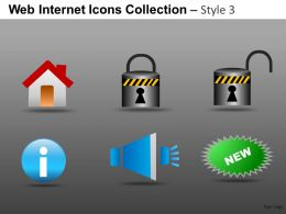Web Internet Icons Collection Style 3 Powerpoint Presentation Slides DB