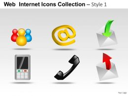 Web Internet Icons Style 1 Powerpoint Presentation Slides