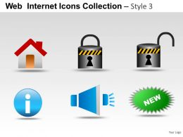 Web Internet Icons Style 3 Powerpoint Presentation Slides
