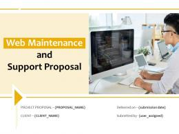 Web Maintenance And Support Proposal Powerpoint Presentation Slides