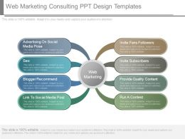 Web Marketing Consulting Ppt Design Templates