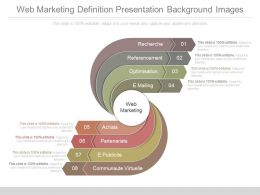 Web Marketing Definition Presentation Background Images