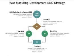 Web Marketing Development Seo Strategy Ppt Powerpoint Presentation File Sample Cpb
