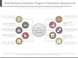 Web Marketing Examples Diagram Presentation Backgrounds