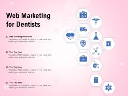 Web Marketing For Dentists Ppt Powerpoint Presentation Infographic Template Format