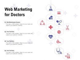 Web Marketing For Doctors Ppt Powerpoint Presentation Portfolio Guide