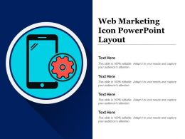 Web Marketing Icon Powerpoint Layout