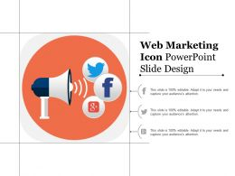 Web Marketing Icon Powerpoint Slide Design