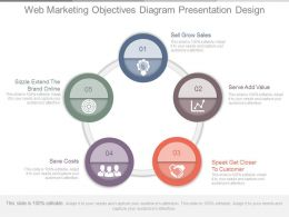 Web Marketing Objectives Diagram Presentation Design
