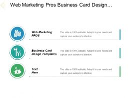 Web Marketing Pros Business Card Design Templates Better Crm Cpb