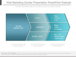 Web Marketing Quotes Presentation Powerpoint Example