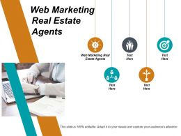 Web Marketing Real Estate Agents Ppt Powerpoint Presentation Infographic Template Model Cpb