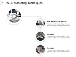 Web Marketing Techniques Ppt Powerpoint Presentation Styles Outline Cpb