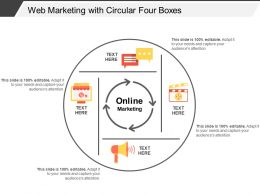 Web Marketing With Circular Four Boxes