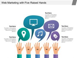 Web Marketing With Five Raised Hands