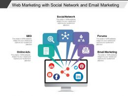 Web Marketing With Social Network And Email Marketing
