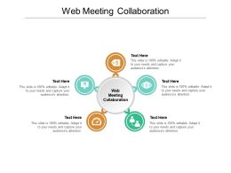 Web Meeting Collaboration Ppt Powerpoint Presentation Visual Aids Files Cpb