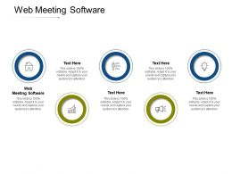 Web Meeting Software Ppt Powerpoint Presentation Model Designs Cpb