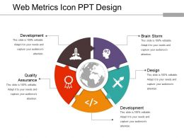 Web Metrics Icon Ppt Design