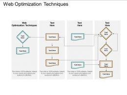 Web Optimization Techniques Ppt Powerpoint Presentation Summary Templates Cpb