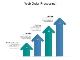 Web Order Processing Ppt Powerpoint Presentation Gallery Tips Cpb