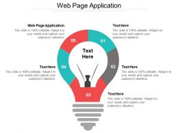 Web Page Application Ppt Powerpoint Presentation Gallery Images Cpb