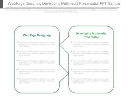 Web Page Designing Developing Multimedia Presentation Ppt Sample