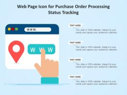 Web Page Icon For Purchase Order Processing Status Tracking