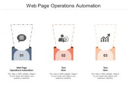 Web Page Operations Automation Ppt Powerpoint Presentation Ideas Icons Cpb