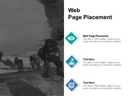 Web Page Placement Ppt Powerpoint Presentation Icon Pictures Cpb