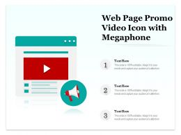 Web Page Promo Video Icon With Megaphone