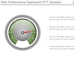 Web Performance Dashboard Ppt Samples