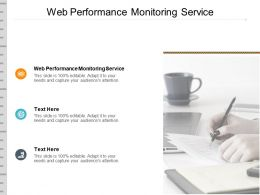 Web Performance Monitoring Service Ppt Powerpoint Presentation Model Objects Cpb