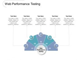 Web Performance Testing Ppt Powerpoint Presentation Gallery Example Topics Cpb