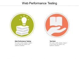 Web Performance Testing Ppt Powerpoint Presentation Outline Clipart Cpb