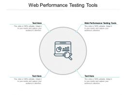 Web Performance Testing Tools Ppt Powerpoint Presentation Guidelines Cpb