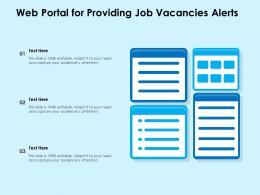 Web Portal For Providing Job Vacancies Alerts