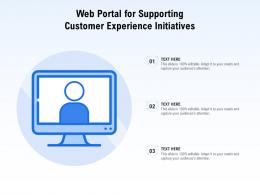 Web Portal For Supporting Customer Experience Initiatives