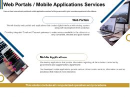 Web Portals Mobile Applications Services Citizen Ppt Powerpoint Presentation Ideas File Formats